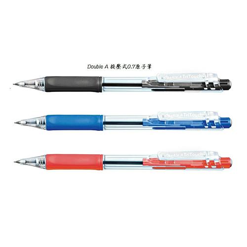 【文具通】Double A Tri Touch Ball Pen DBP-107 自動原子筆0.7 X 12支入盒裝
