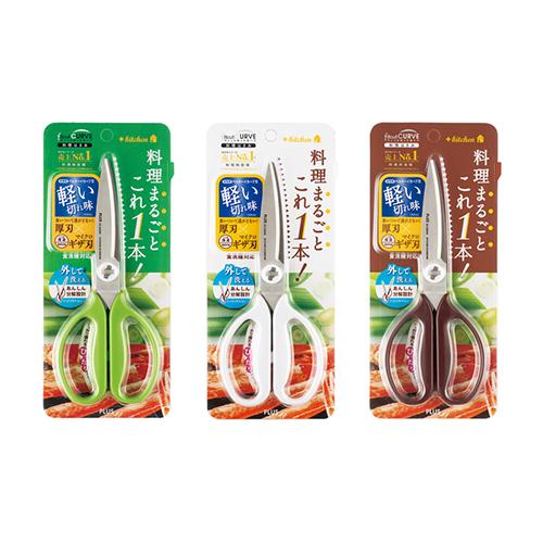 【文具通】PLUS 普樂士 SC-200SW 35-118/35-119/35-120 料理剪刀