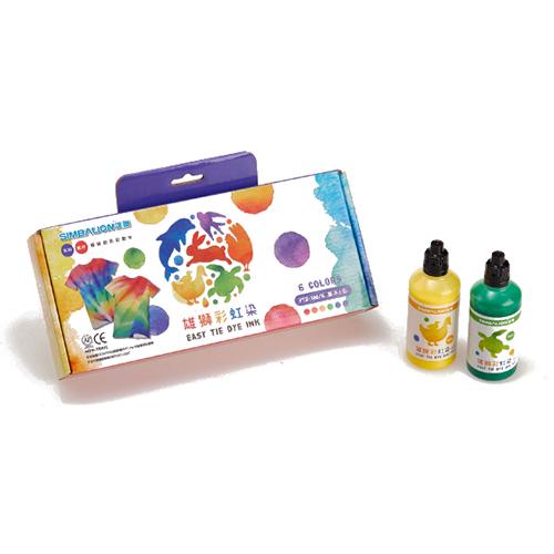 【文具通】SIMBALION 雄獅 NO.PTD-100 彩虹染料/染色顏料 6色入盒裝