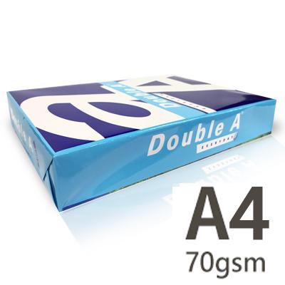 【文具通國際股份有限公司;華軒文具興業有限公司;Double A】【現金自取價】Double A A4 70gsm 雷射噴墨白色影印紙X 10包2箱入
